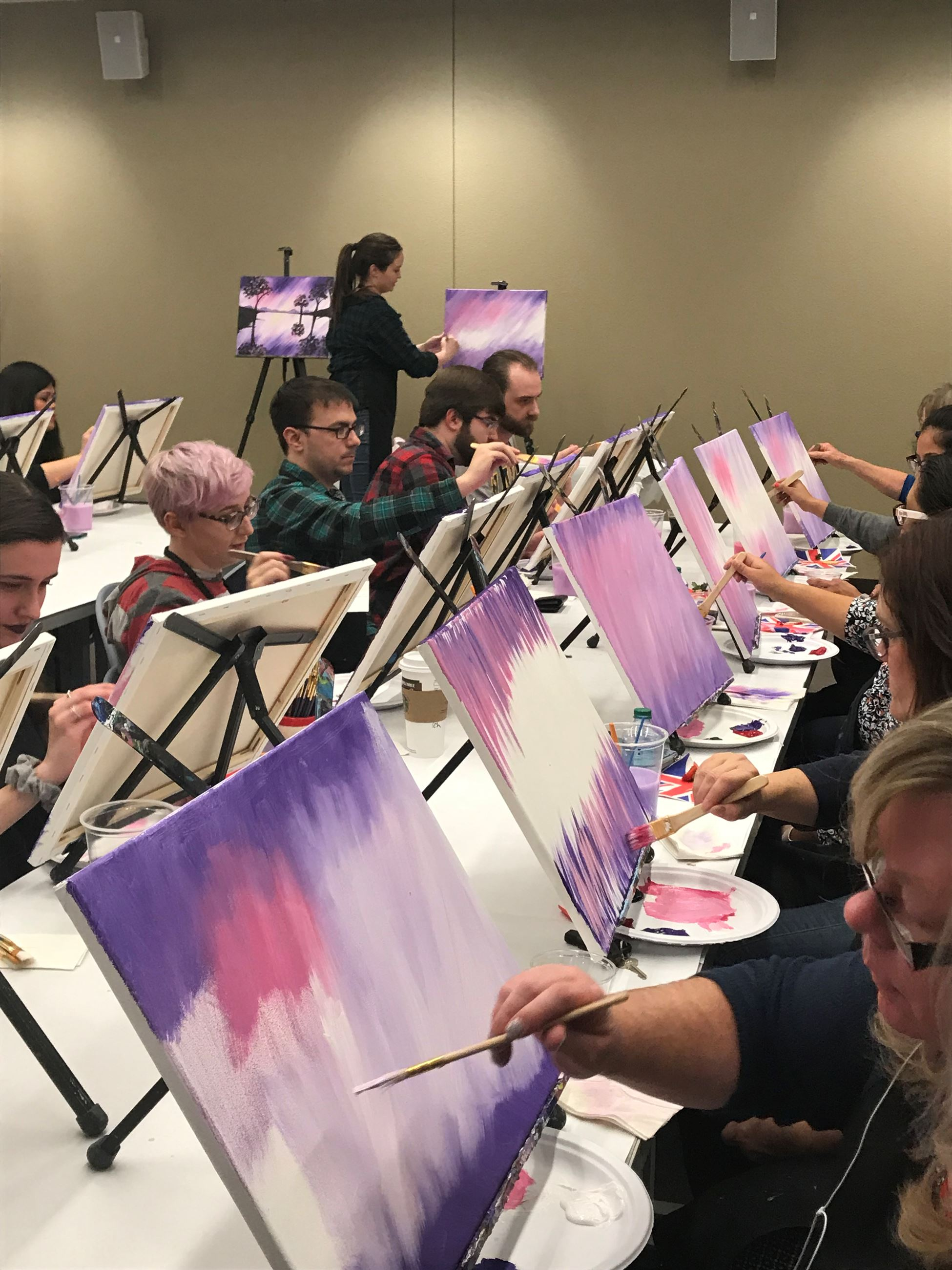 Wine and Painting Party Winter 2018