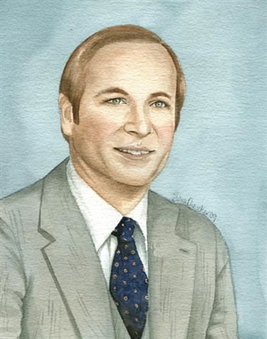 Watercolor portrait of Sheriff Dallas Smith