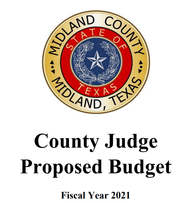 2021 County Judge Proposed Budget