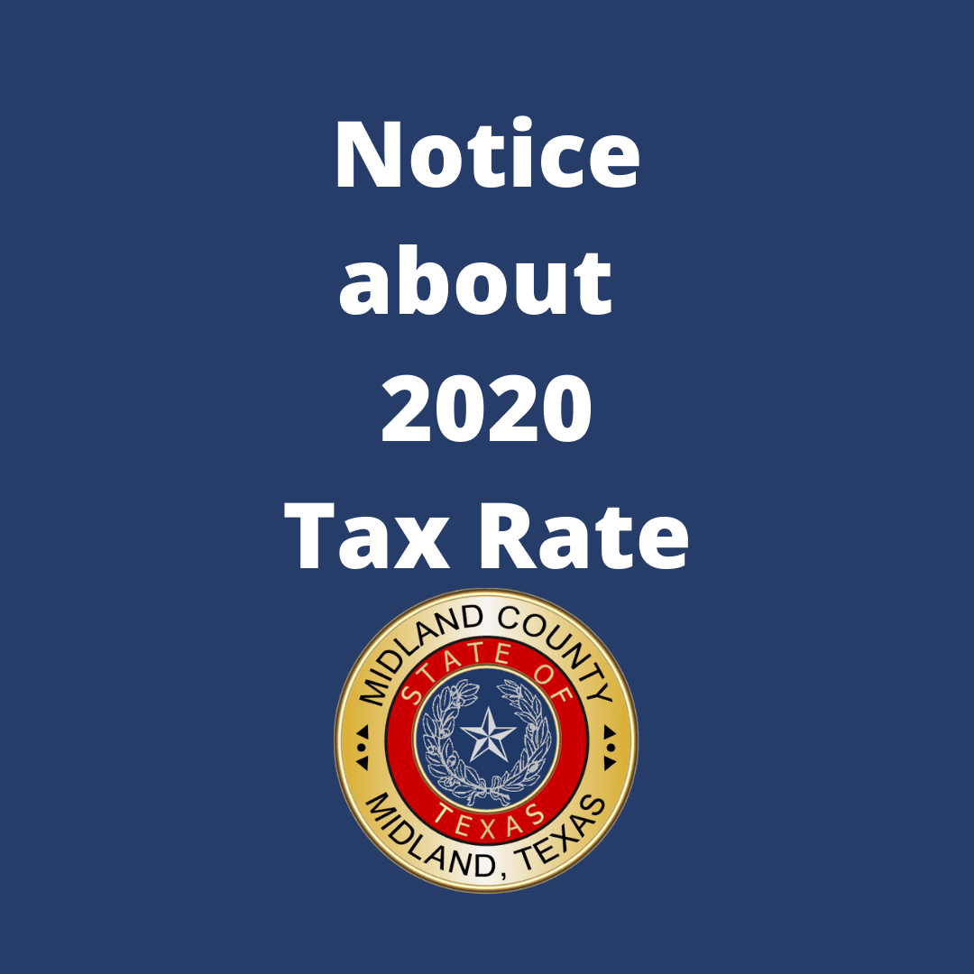 Notice about 2020 Tax Rate