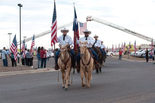 Honor Guard on horses in parade