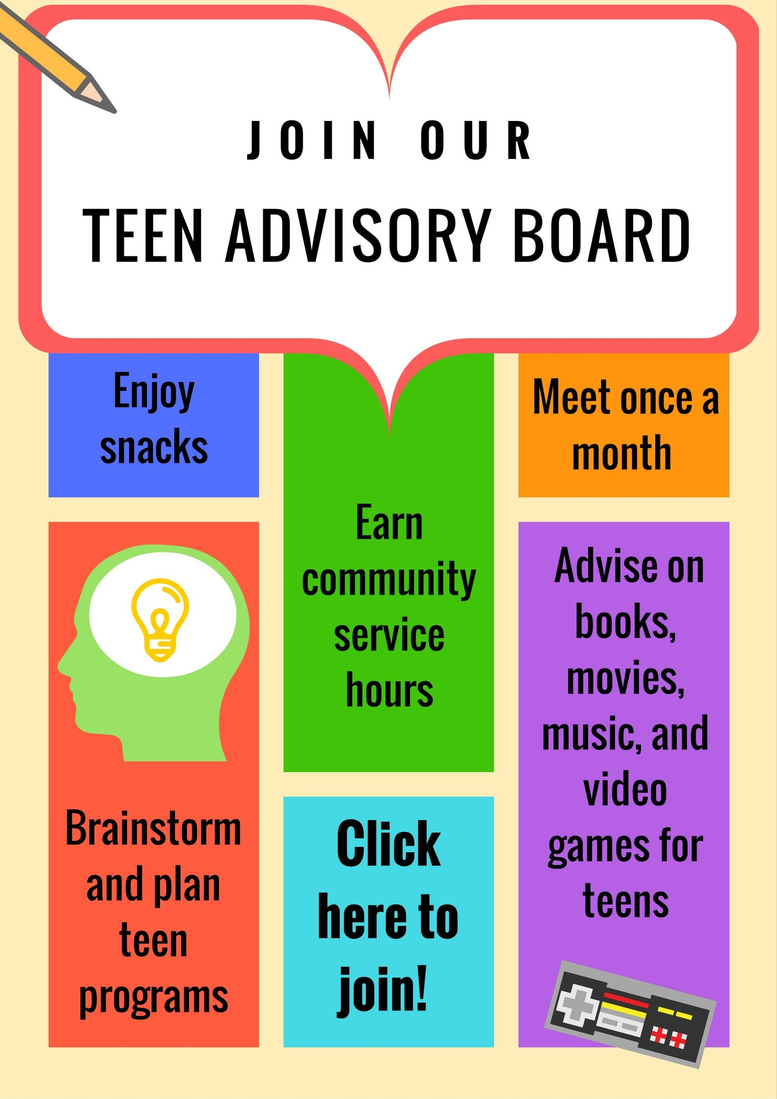 Join our teen advisory board