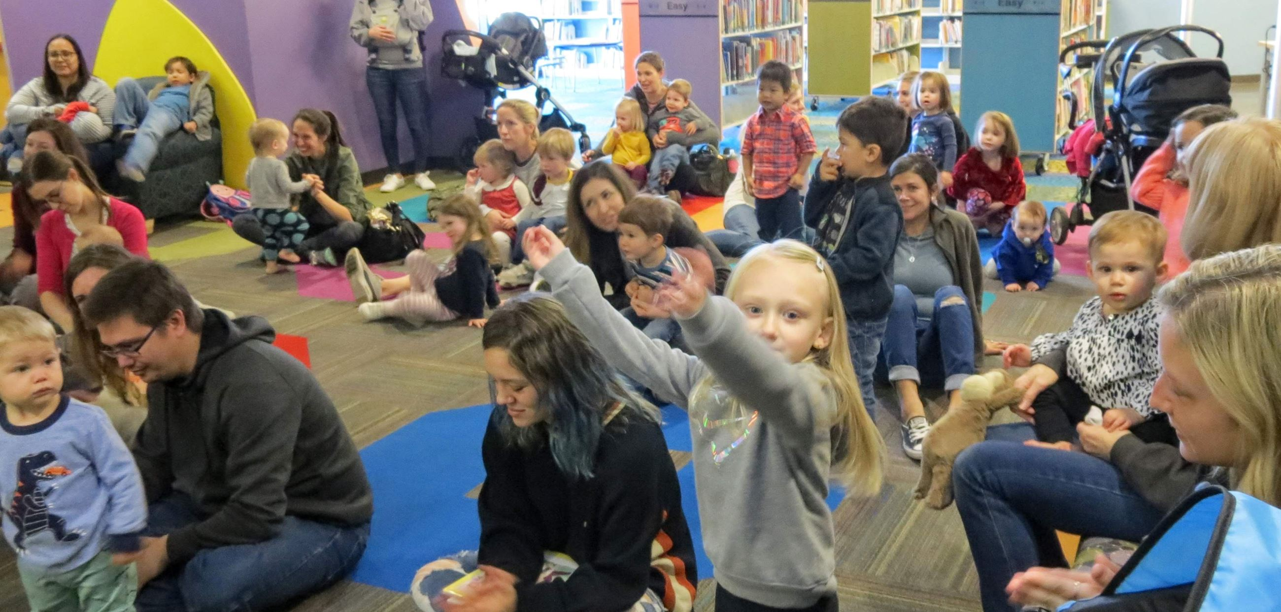 Children and parents at storytime